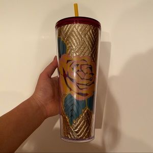 NEW Starbucks Fall 2020 Quilted Rose Tumbler